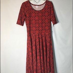 LuLaRoe Nicole Orange Dress Size XL
